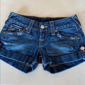 True Religion Denim Jess Shorts Size 25